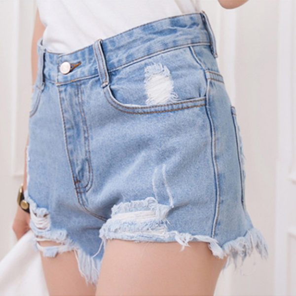 Women's Frayed high waist denims Shorts for sale - Pretty Me ...