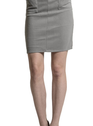 Double pocket office midi skirt (with Belt)