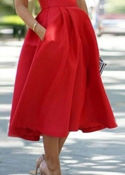 High waist pleated ball maxi skirt