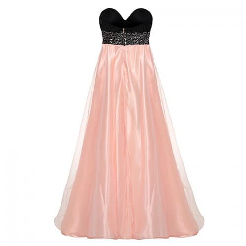 Strapless ball gown cocktail maxi dress