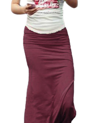 Long solid maxi skirt