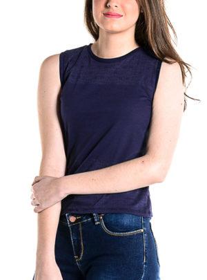 Burn out sleeveless tank top