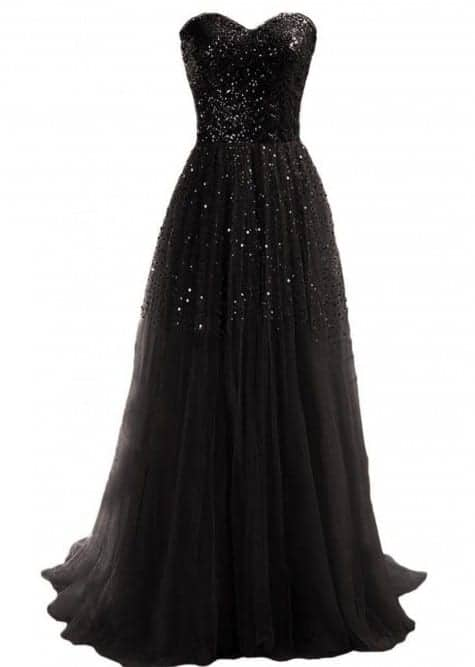 Strapless sequin cocktail maxi dress