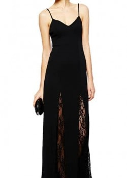 Slim V-neck maxi dress