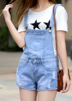 Short style jumpsuit (Dungarees)
