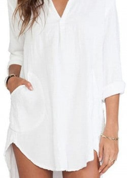 Summer style long sleeve loose blouse
