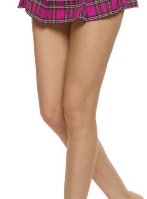 Plaid & pleated mini skirt