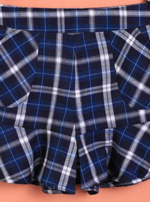 Korean style plaid casual shorts