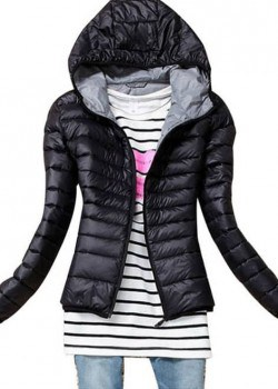 Hooded padded winter coat