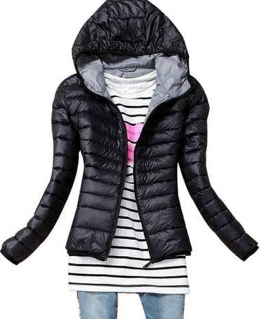 Hooded padded winter coat