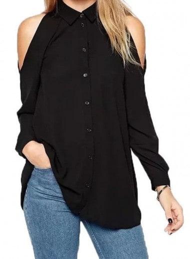 Off Shoulder long sleeve blouse