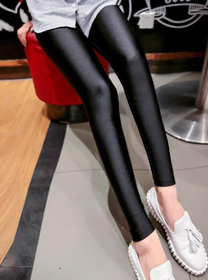 Glossy leggings with envelope