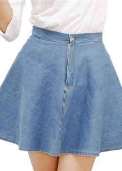 High waist denim tutu mini skirt