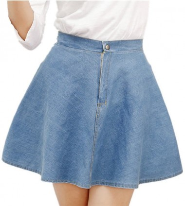 High waist denim tutu mini skirt