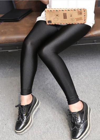 Glossy leggings with envelope