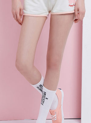 Korean style elasticated cropped casual shorts