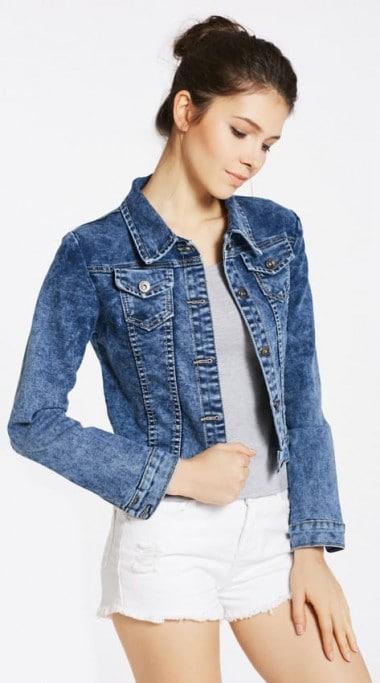 Stitch denim jacket