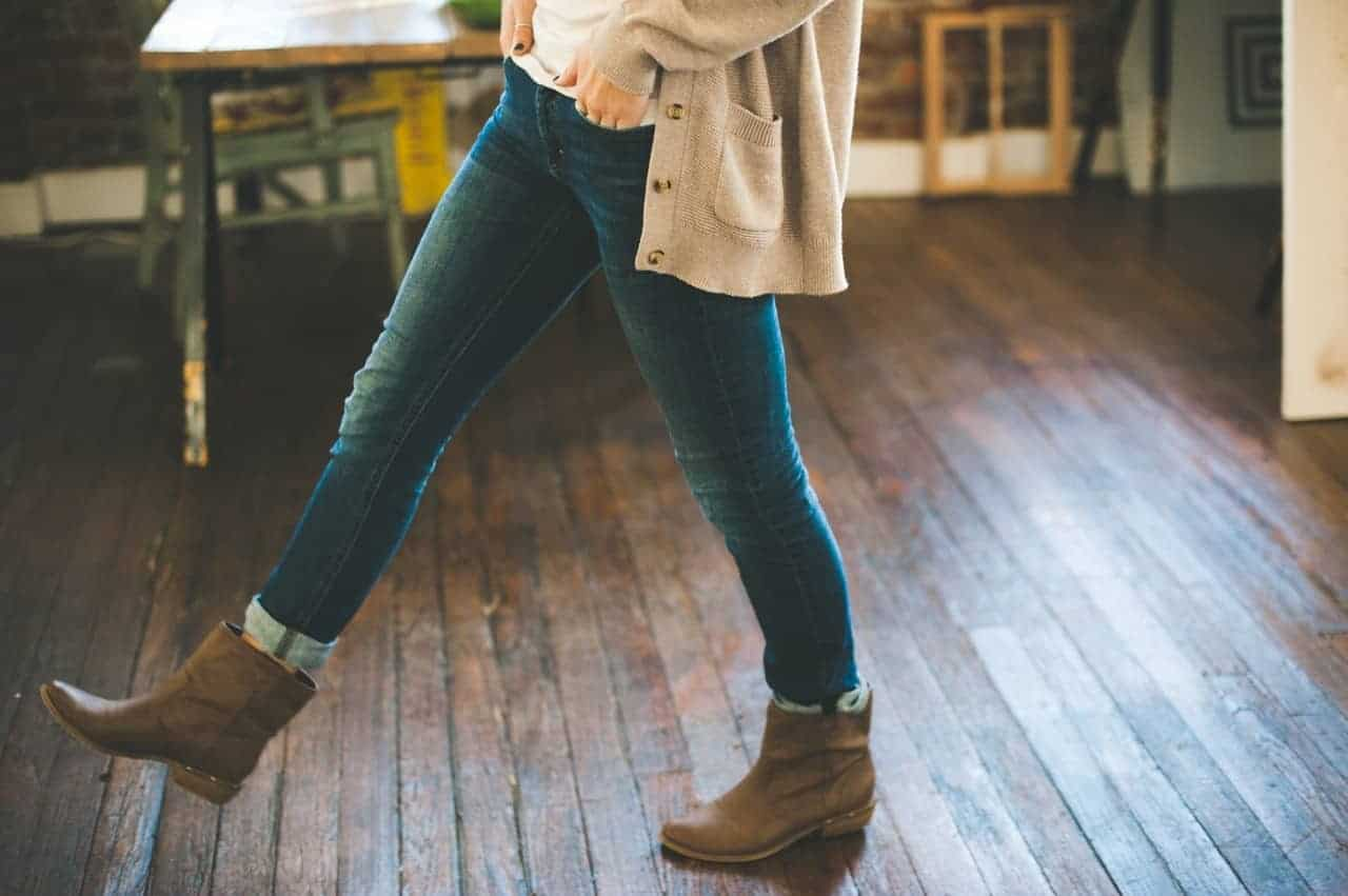 Women wearing jeans