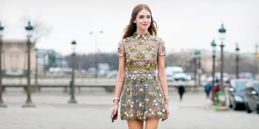 woman wearing floral mini dress