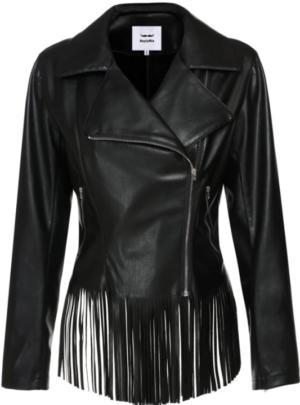 Sunwonder boylymia faux leather tassel jacket