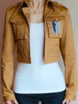 Attack on Titan cropped cosplay jacket