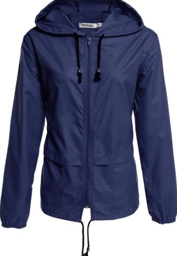 Waterproof sports raincoat