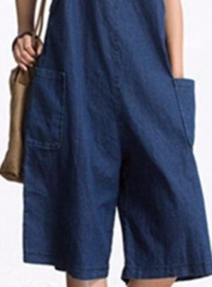 Wide leg vintage denim overalls (dungarees)