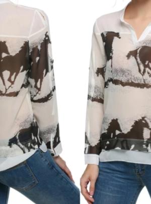 Retro horse print shirt