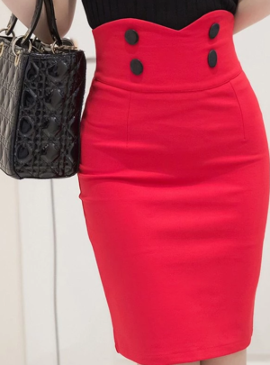 Stretch high waist mini skirt
