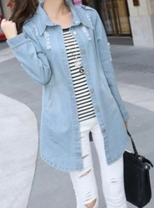 Light oversized denim jacket