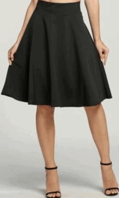 Astar pleated midi skirt