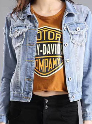 Vintage patch design denim jacket