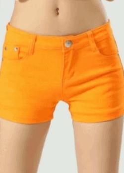 Candy denim shorts