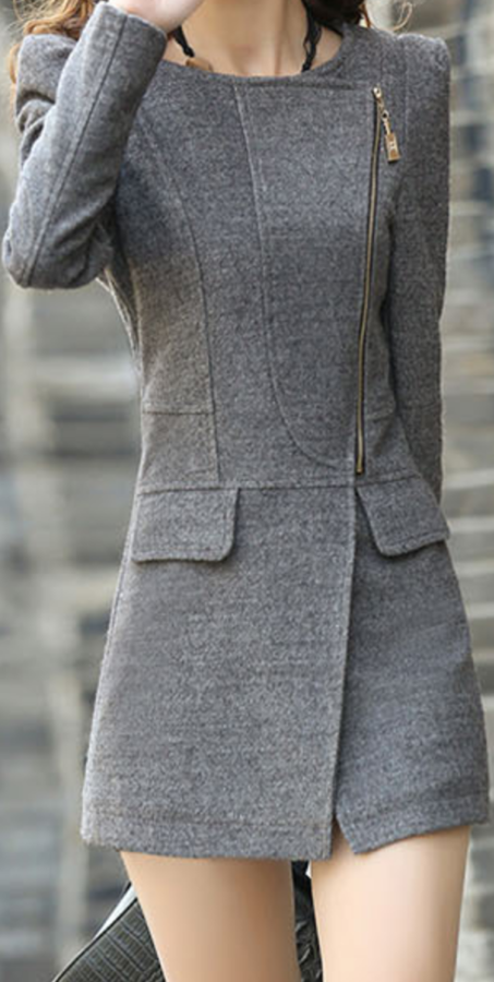 Charming fitted lapel jacket