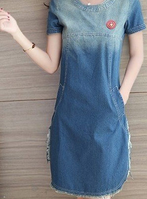 Denim t-shirt midi dress