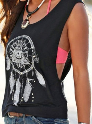 Casual dreamcatcher tank top