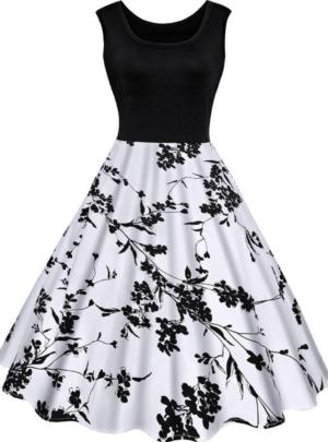Vintage floral print midi dress