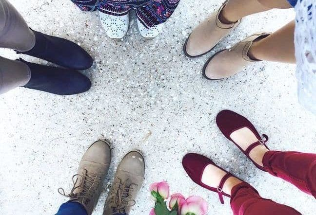 Friends with shoes
