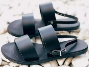 Two band strappy sandals