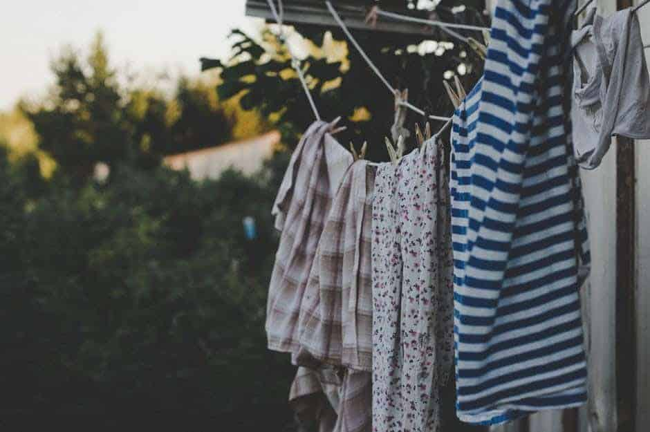 laundry on a clothing line