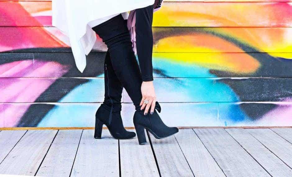 high heel OTK boots