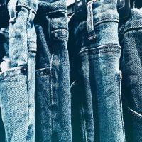 different washes of jeans
