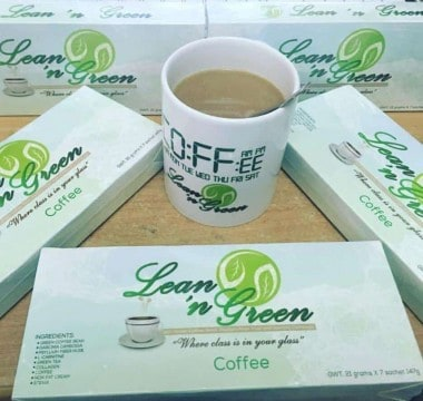 Lean n Green Slimming Coffee with coffee cup
