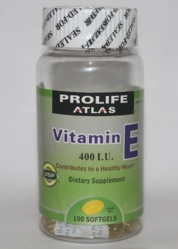 Prolife Atlas Vitamin E Bottle