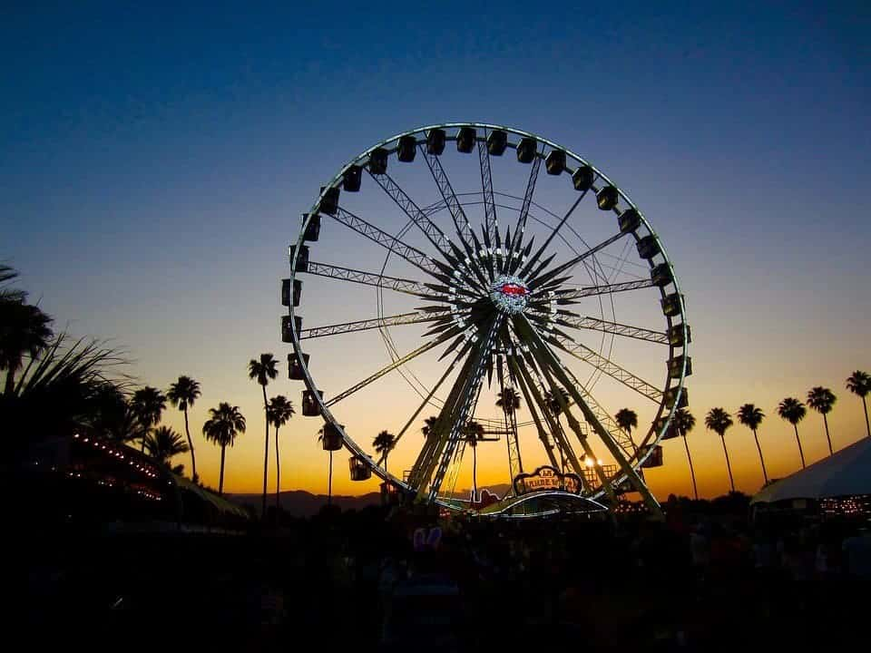 Coachella at Sunset