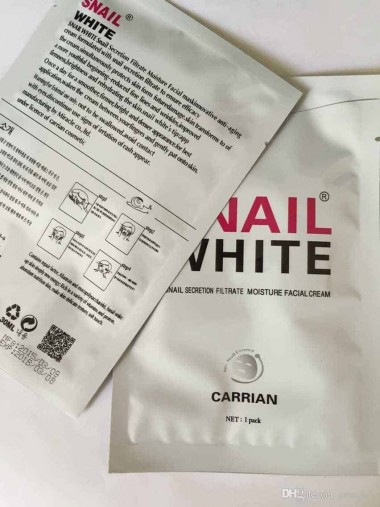 Snail White Face Mask Instructions