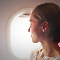 Woman-on-a-plane